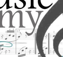 Music Is My Escape Sticker