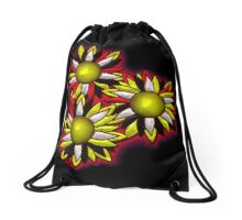 Fire Bloom Drawstring Bag