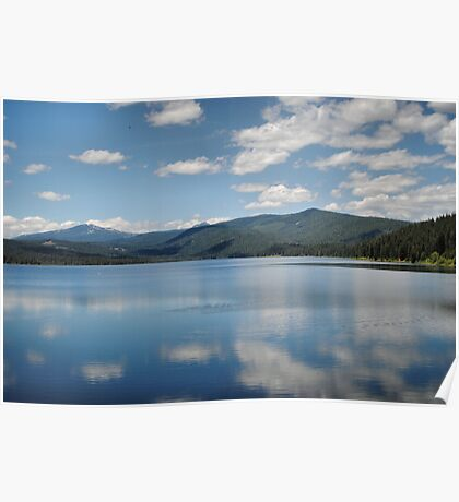 Clouds On Lake Almanor Poster