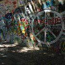 John Lennon Peace Wall, Prague by Chas Fullerton