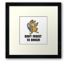 Beaver Brush Framed Print