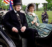 Mr. and Mrs. Lincoln in a Carriage by James Formo