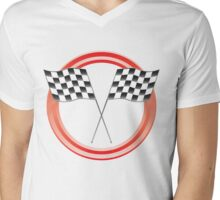 race flags Mens V-Neck T-Shirt