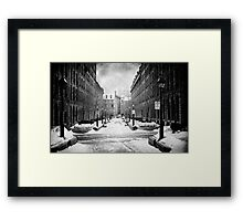 Rue-Le-Royer, Montreal Framed Print