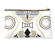 Angled Geometric shapes white Studio Pouch