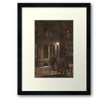 It Was A Dark And Foggy Night Framed Print