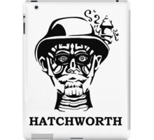 Hatchworth in Black and White iPad Case/Skin