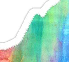 Rainbow VA Watercolor Sticker