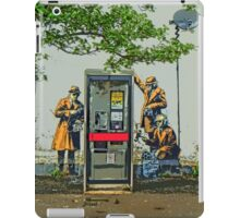 GCHQ listening post by Banksy iPad Case/Skin