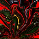 ABSTRACT! RED FLOWER GARDEN by Sherri     Nicholas
