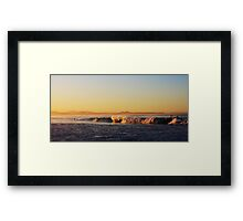 Golden Shores Framed Print