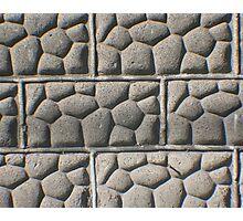 Bricks of Stone Photographic Print