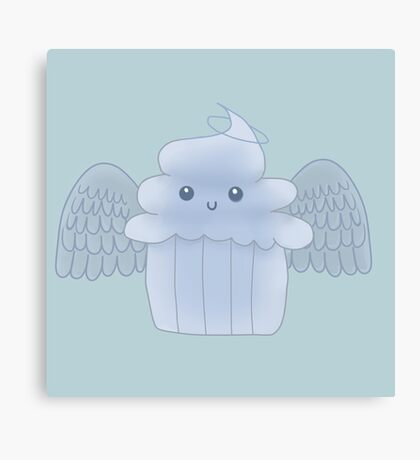 Angel food cupcake Canvas Print