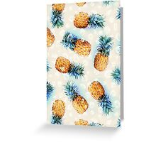 Pineapples + Crystals Greeting Card