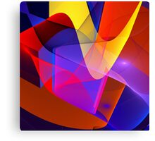 Floating veils, fractal abstract art Canvas Print