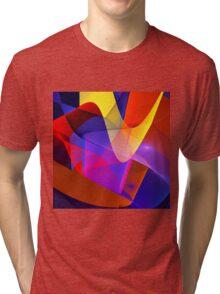 Floating veils, fractal abstract art Tri-blend T-Shirt