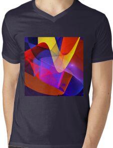 Floating veils, fractal abstract art Mens V-Neck T-Shirt