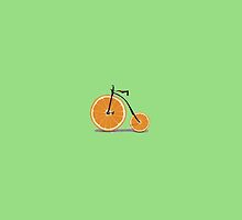Cool orange bycicle by funnyshirts
