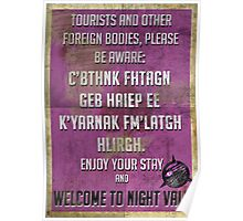 WELCOME TO NIGHT VALE PSA Poster