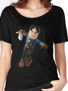 Satoru Iwata as Mii Fighter Women's Relaxed Fit T-Shirt