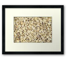 Raw Oats Framed Print
