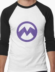 Purple evil minion logo- El Macho Men's Baseball ¾ T-Shirt