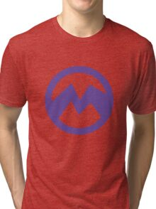 Purple evil minion logo- El Macho Tri-blend T-Shirt