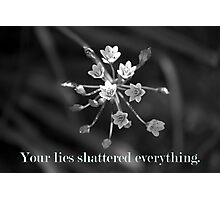 Lies Kill Photographic Print