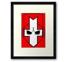 Castle Crashers| Minimal Helmet Framed Print