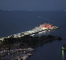 Down town St Petersburg Fl Pier 60 by Val Ritter