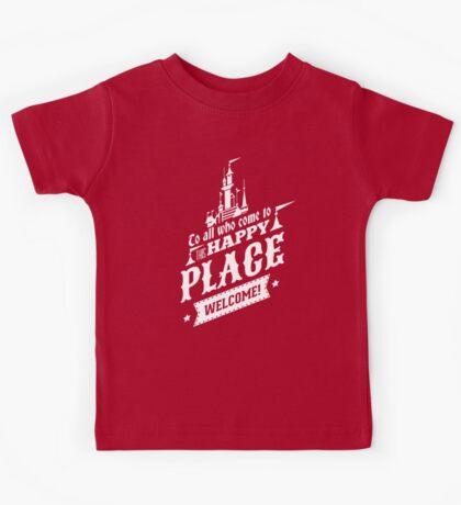 Magic Kingdom - Walt's Happy Place Kids Tee