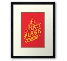 Magic Kingdom - Walt's Happy Place Framed Print