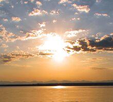 Sunrise over Yellowstone Lake by JamesA1