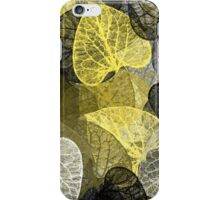 Black And Gold Leaf Abstract Art iPhone Case/Skin