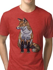 Stained Glass Fox Tri-blend T-Shirt