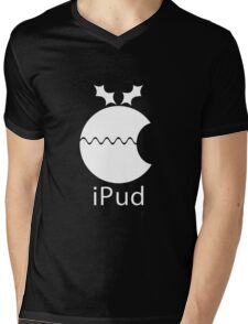 iPud Christmas Pudding Mens V-Neck T-Shirt