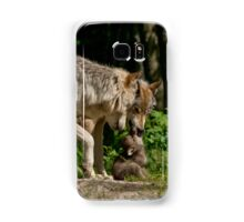 Timber Wolf And Pup Samsung Galaxy Case/Skin