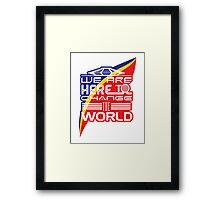 Captain EO - Change the World Framed Print