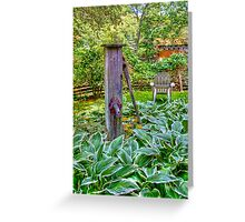 Old Wooden Pump Greeting Card