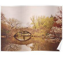 Beautiful Springtime Landscape - Central Park - New York City Poster