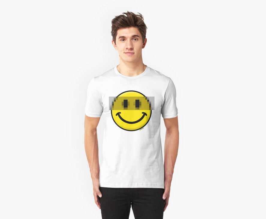 Pixelated Smiley Face by Stuart Stolzenberg