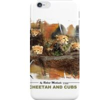 Cheetah And Cubs iPhone Case/Skin