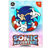 Sonic Adventure Dreamcast Sega Cover Box Photographic Print