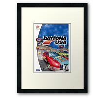 Daytona USA Dreamcast Sega Cover Box Framed Print
