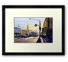 Morning Coffee, Richmond, Victoria Framed Print