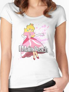 I Main Peach - Super Smash Bros. Women's Fitted Scoop T-Shirt