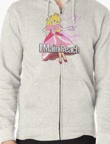 I Main Peach - Super Smash Bros. Zipped Hoodie