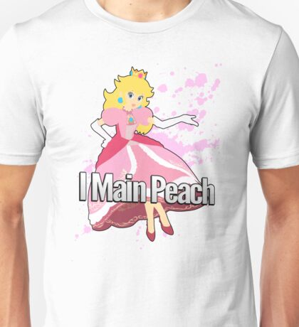 I Main Peach - Super Smash Bros. Unisex T-Shirt