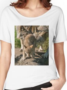Timber Wolf Pup Women's Relaxed Fit T-Shirt