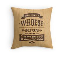 Big Thunder - Woody Throw Pillow